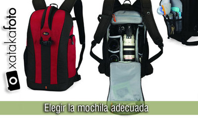 Elige la mochila adecuada
