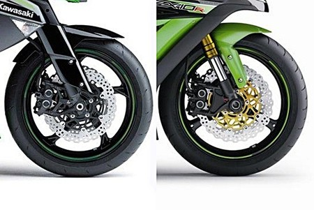 Comparativa Z1000 - ZX-10R
