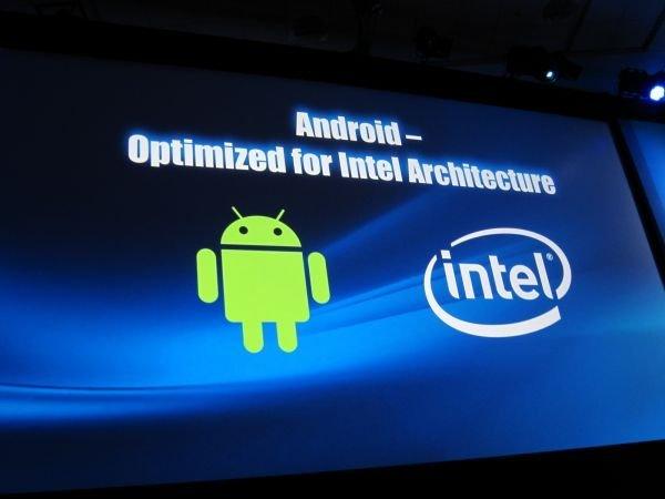 Android Intel partnership