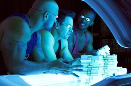 Dwayne Johnson, Mark Wahlberg y Anthony Mackie