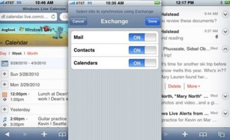 Hotmail en el iPhone