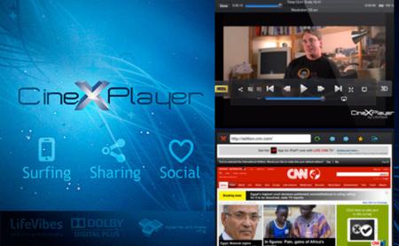 CineXPlayer 2.8 para iPad, navega por Internet mientras ves un vídeo dividiendo la pantalla