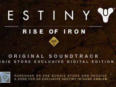 Celebra el lanzamiento de Destiny: Rise of Iron escuchando su banda sonora completa; compra el soundtrack y llévate un emblema