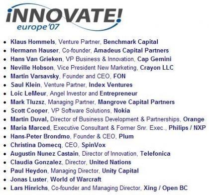 Llega Innovate!Europe 2007
