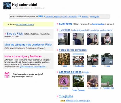 Flickr ya habla español
