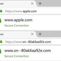 аррӏе.com y apple.com lucen iguales pero no lo son, y ni Chrome ni Firefox notan la diferencia