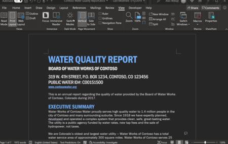 """Microsoft prueba el nuevo """"Modo oscuro"""" en Word y un botón para alternarlo con la interfaz en blanco"""