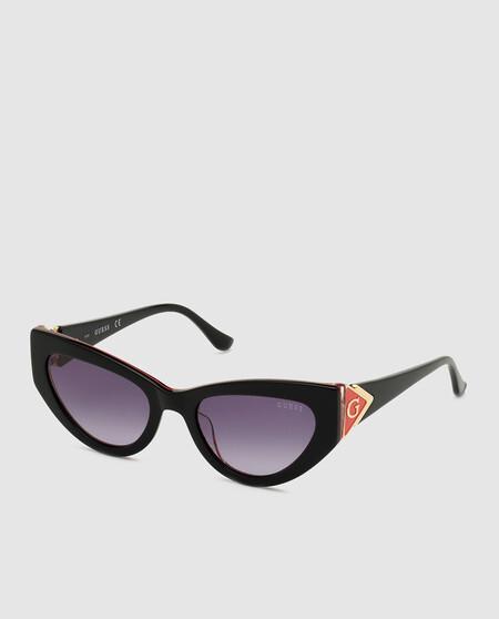 Gafas De Sol De Mujer Guess Cat Eye De Acetato En Negro
