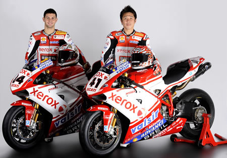 Noriyuki Haga y Michele Fabrizio renuevan con Ducati Xerox