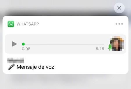 Mensaje audio reproductor WhatsApp iPhone