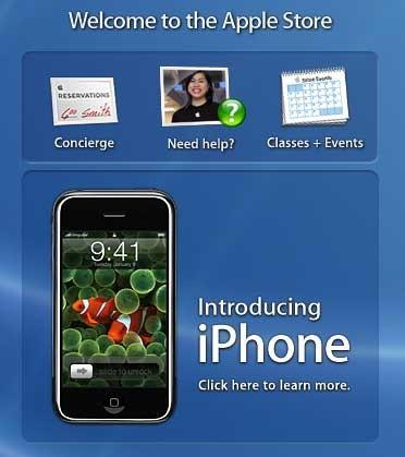 El iPhone comienza a anunciarse en las Apple Stores