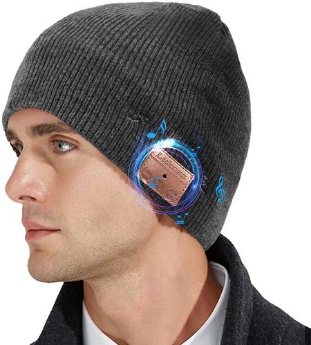 Gorro con audífonos y micrófono bluetooth