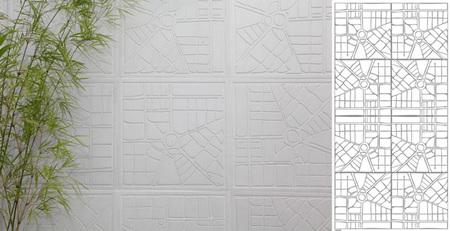 Azulejos con patrones urbanísticos 2