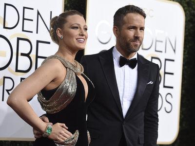 Blake Lively y Ryan Reynolds son la pareja perfecta de los Globos de Oro 2017