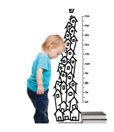 Precioso vinilo medidor para saber cuánto ha crecido tu peque