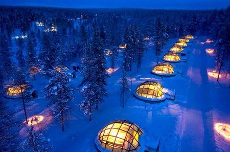 Igloo Village Kakslauttanen, un hotel de hielo