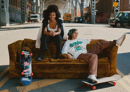 H&M recupera el espíritu skater y alternativo de principios de los 2000 en su nueva colaboración con la mítica marca 'No Fear'