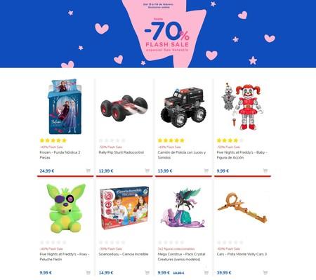 70% de descuento en Toys 'r us hasta San Valentín: una oferta flash de lo más curiosa con miles de artículos