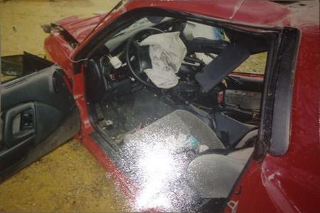 Toyota Supra accidente 2004
