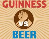 Infografía Guinnes Vs Cerveza rubia