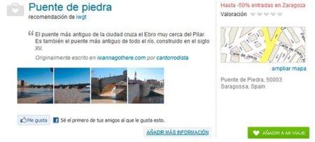 Detalle de un sitio de interés de MiMaleta.com