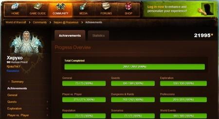Hay un tipo que ya ha completado todos los logros del World of Warcraft