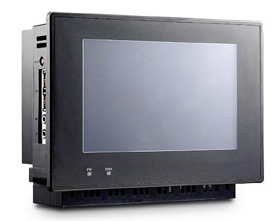 Ordenador encajado en la pared con pantalla táctil