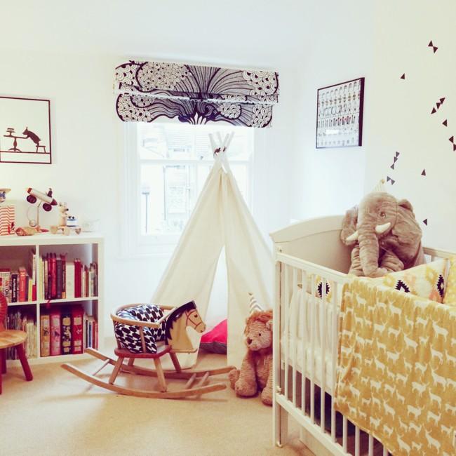 Monochrome Geometric Teepee Childrens Bedroom Nursery 2