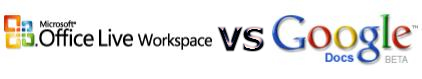 Ofimática online: MS Office Live Workspace vs Google Docs