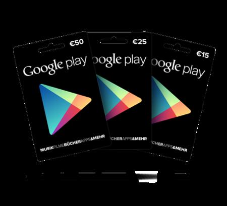 Las tarjetas regalo de Google Play ya a la venta en España