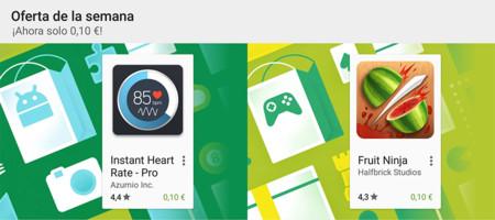 Oferta de la semana en Google Play: Instant Heart Rate Pro y Fruit Ninja rebajados a 0,10 €