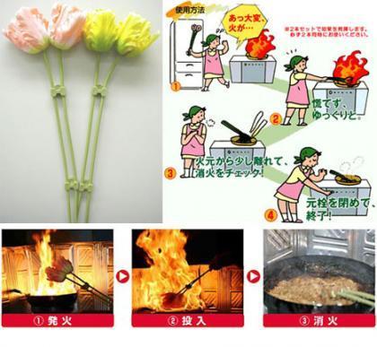 Extintores florales para tu cocina