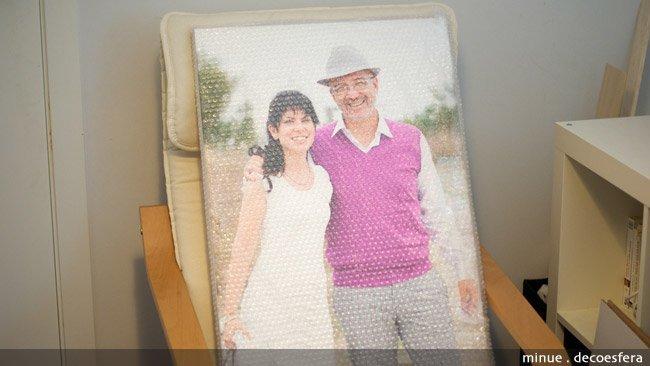 Convertir fotos en cuadros - el embalaje dos