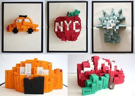 Pop-Up NYC, desplegables decorativos en 3D sobre Nueva York