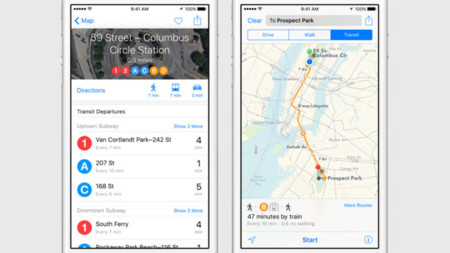 Ios9 Maps Public Transport