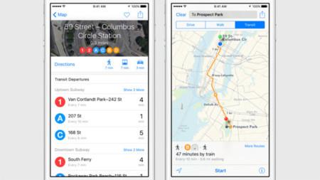 Ios9 Maps Public Transport