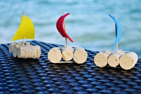Manualidades Faciles Bonitas Playa Mar Barco Corcho