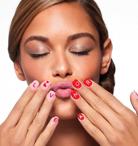 san valentin nail art