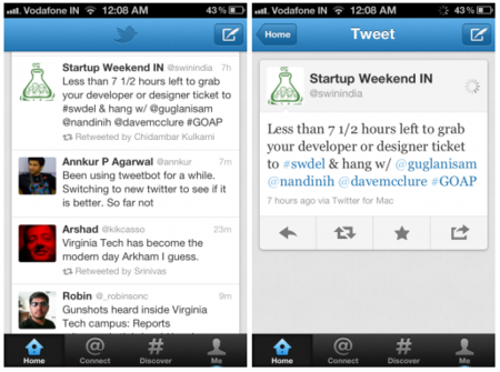 Twitter también renueva su aplicación para Android y iPhone, primeras impresiones