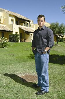 Matt Damon, de vacaciones en España
