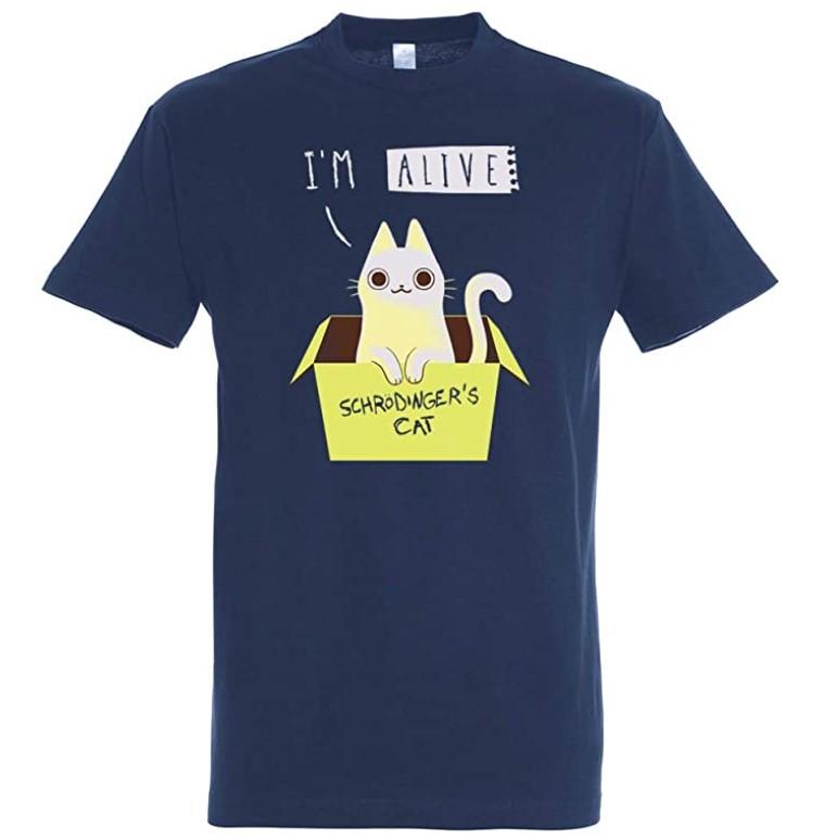 Camiseta del gato de Schrodinger