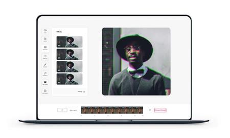 Esta web te permite editar y añadir efectos a tus vídeos en tiempo real