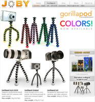 Nuevos gorillapods, de colores y con ventosa
