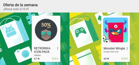 Oferta de la semana en Google Play: Retrorika Icon Pack y Monster Mingle a 0,10 €