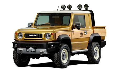 Un Suzuki Jimny pick-up y otro para todoterreno más extremo, preparados para el Tokyo Auto Salon