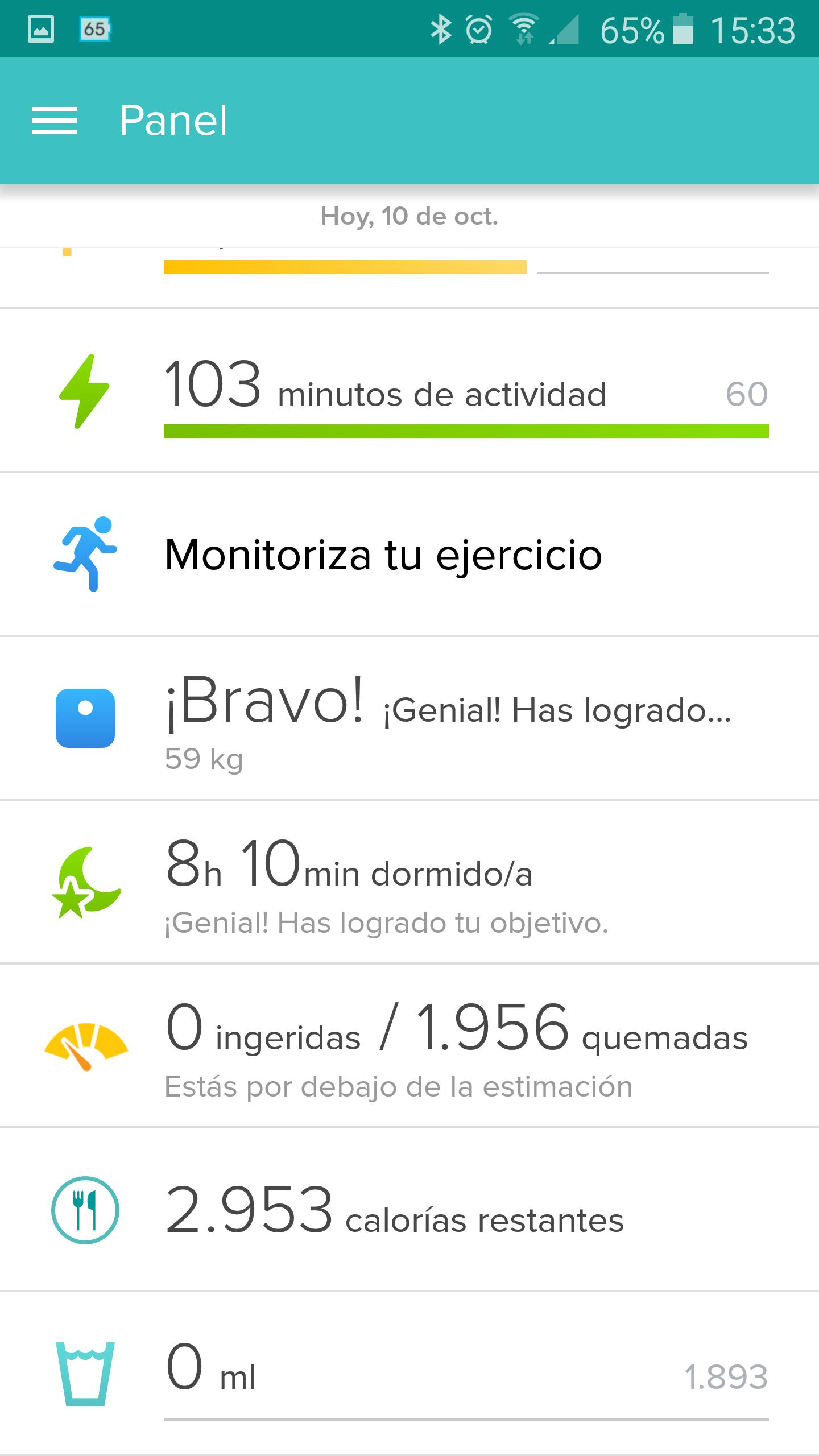 Foto de Aplicación Fitbit en smartphone (5/19)