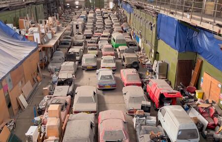 ¡Locura de subasta! Alucina con esta colección de 174 coches abandonados en un almacén en Reino Unido