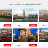 Descuento directo de 25 euros en viajes a Europa con Atrápalo