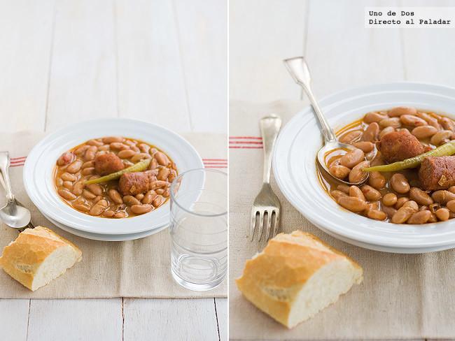 Receta de pochas guisadas con chorizo, degustando (de nuevo) platos de legumbres con cuchara