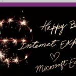 Microsoft celebra los 20 años de Internet Explorer con esta postal hecha en Edge
